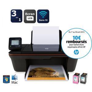 Imprimante multifonction A4 HP Deskjet 3057A jet d'encre couleur 3 en 1 WiFi avec ODR (10€)
