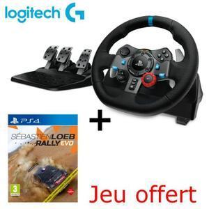 Volant de course Logitech G290 + Jeu PS4 Sebastien Loeb Rally Evo