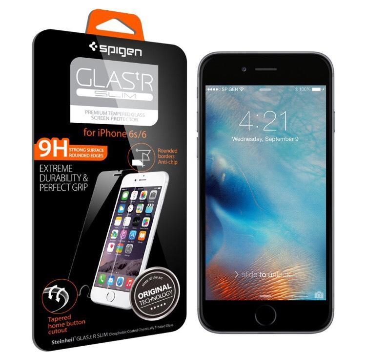 Protection d'écran en verre trempé Spigen pour iPhone 6 / 6S