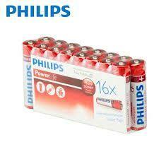Lot 16 piles Philips Powerlife - AA ou AAA