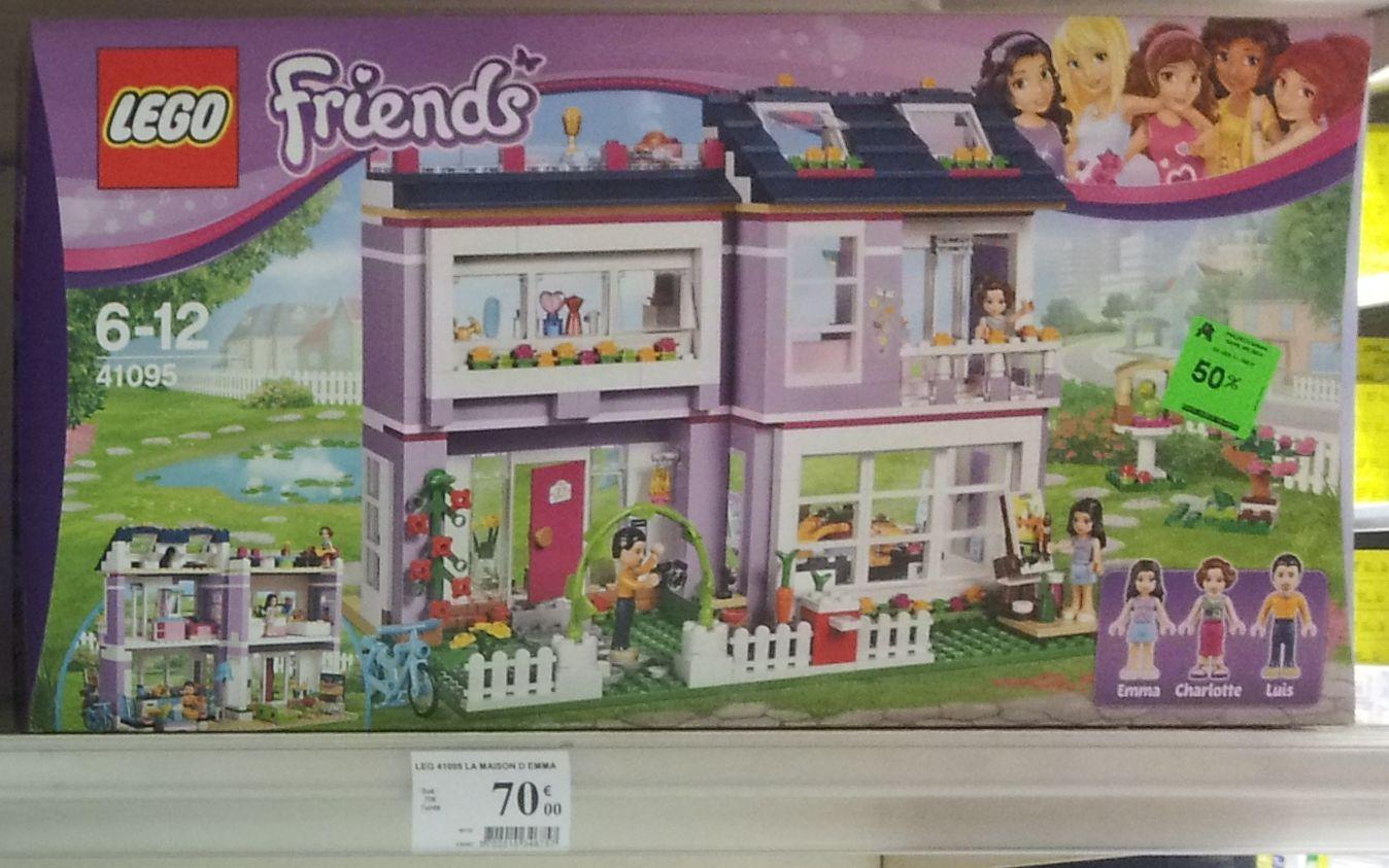 50% de réduction sur une sélection de Lego Friends et Elves - Ex. : Lego Friends La maison d'Emma 41095