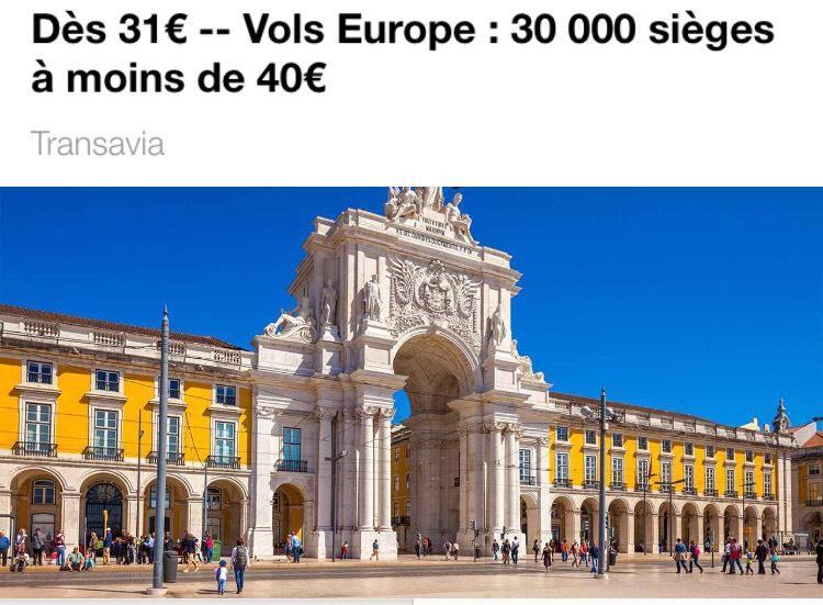 30 000 sièges à moins de 40€ - Ex : Vol Aller Lyon-Porto