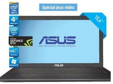 """PC Portable 15.6"""" Asus R510JX-XX221T - i5-4200H, HD LED Brillant, RAM 4 Go, HDD 1 To, Nvidia GeForce GTX 950M 2 Go (avec 70€ sur la carte)"""