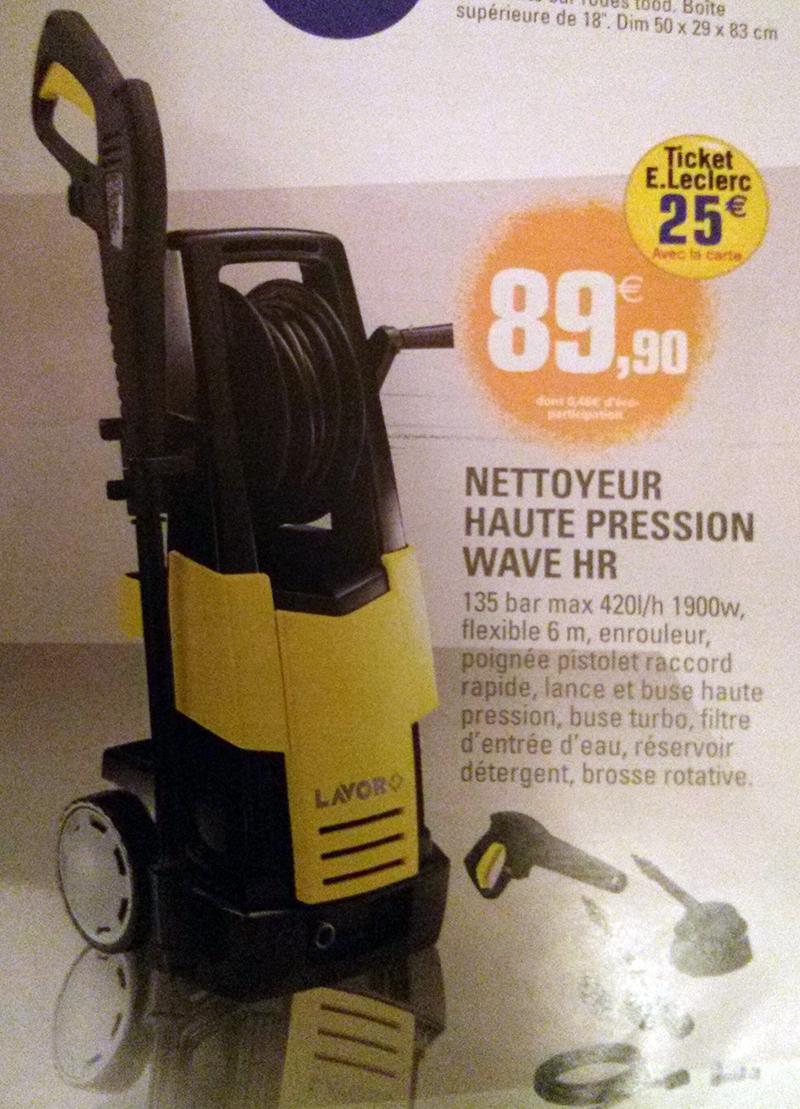 Nettoyeur haute pression Lavor Wave HR (25€ sur la carte)
