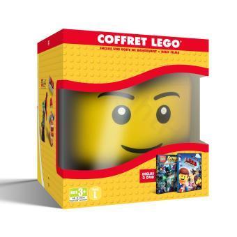 Coffret DVD : La Grande aventure Lego + Lego Batman : le film + Tête de rangement