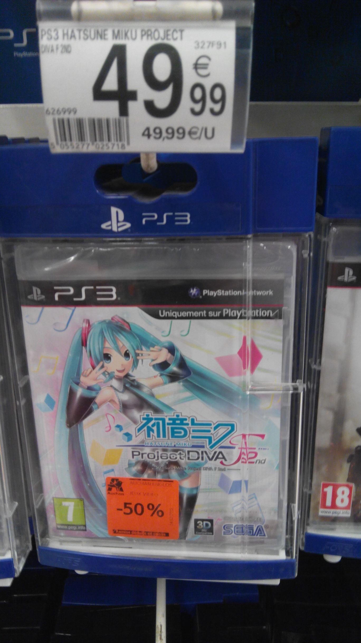 Sélection de jeux vidéo à -50% - Ex : Hatsune Miku Project Diva sur PS3