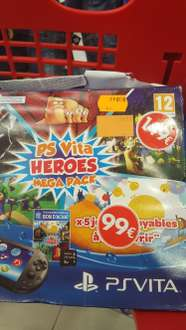 Pack console New 3DS (DBZ ou Monster Hunter) ou PS Vita Heroes Mega Pack