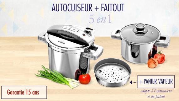 Autocuiseur Profil by Backen +Faitout 5 en 1