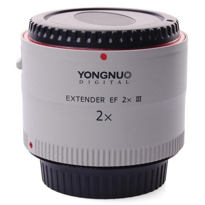 Objectif Extender Yongnuo EF 2x III pour Canon EOS