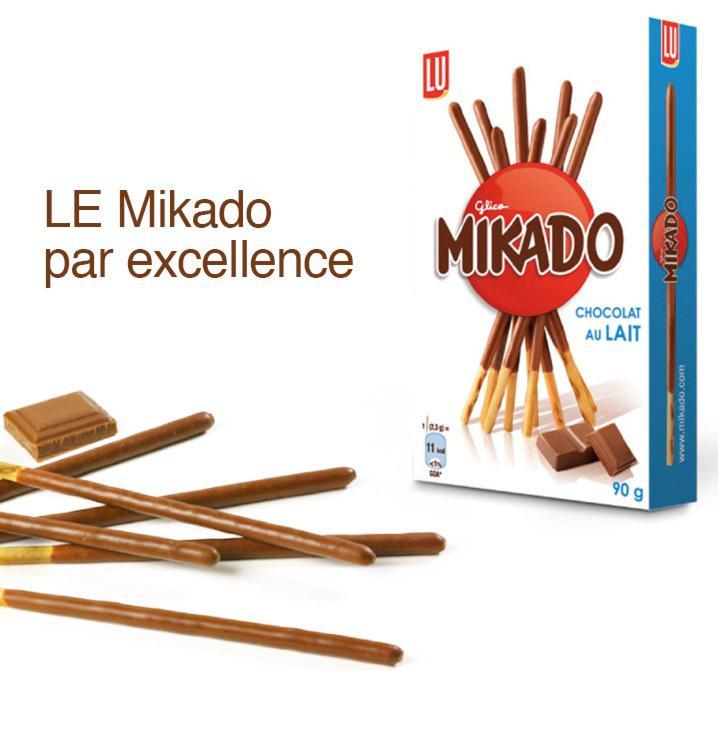 2 paquets  de Mikado (via BDR et shopmium)