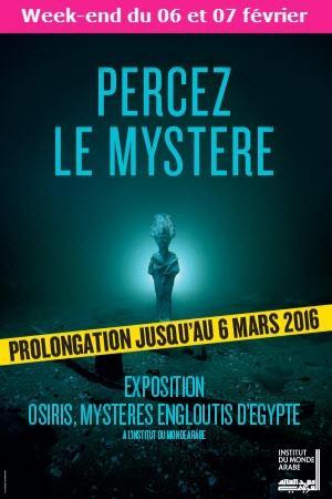 Billets pour les exposition Osiris en février à Paris