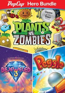 Pack PopCap Hero : Plants Vs Zombies + Bejeweled 3 + Peggle