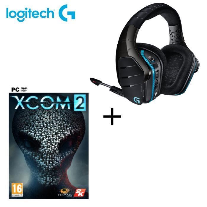 Casque gaming sans fil Logitech G933 pour PC, PS4 et Xbox One + Jeu XCOM 2 sur PC