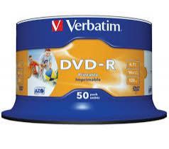 Lot de 50 DVD-R Verbatim - 4.7 Go  (livraison 9.95€)