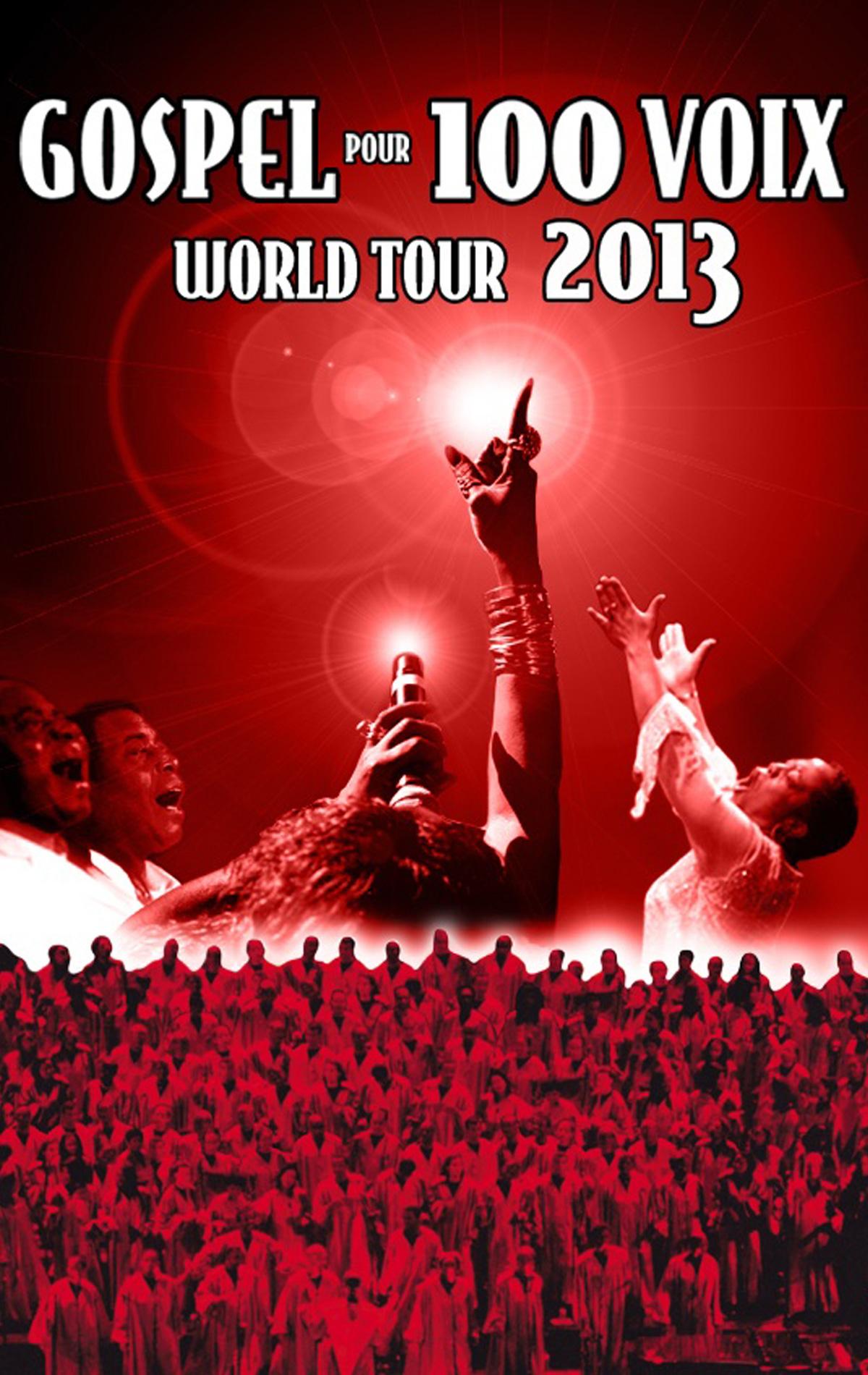 """place en catégorie 1 pour le Gospel """"100 voix"""" world tour a paris bercy"""