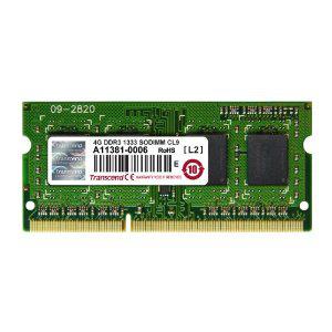 Mémoire RAM 4 Go DDR3 SO-DIMM Transcend - JM1333KSH-4G - Classe 9