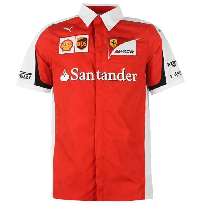 Jusqu'à 70% de remise sur les articles de la Scuderia Ferrari Équipe F1 - Ex : Chemise Puma Scuderia Ferrari Homme