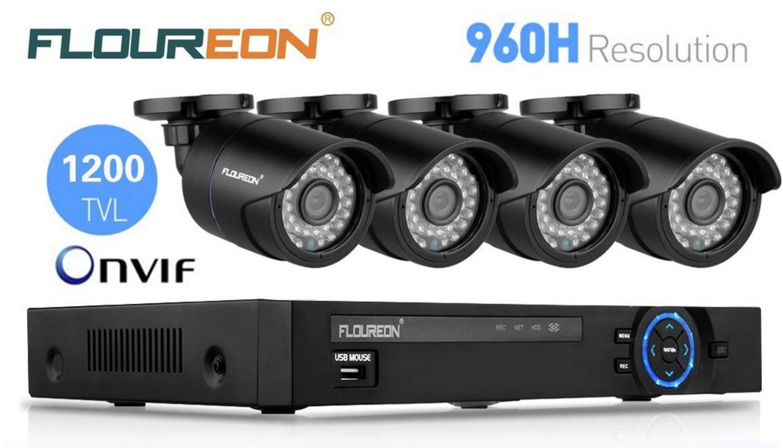 kit de surveillance Floureon : Lot de 4 caméras + Video recorder