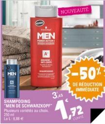 Shampooing ' Men de Schwarzkopf Power action 3' ( via bon de réduction )