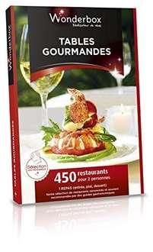 Coffret cadeau Wonderbox - Tables Gourmandes