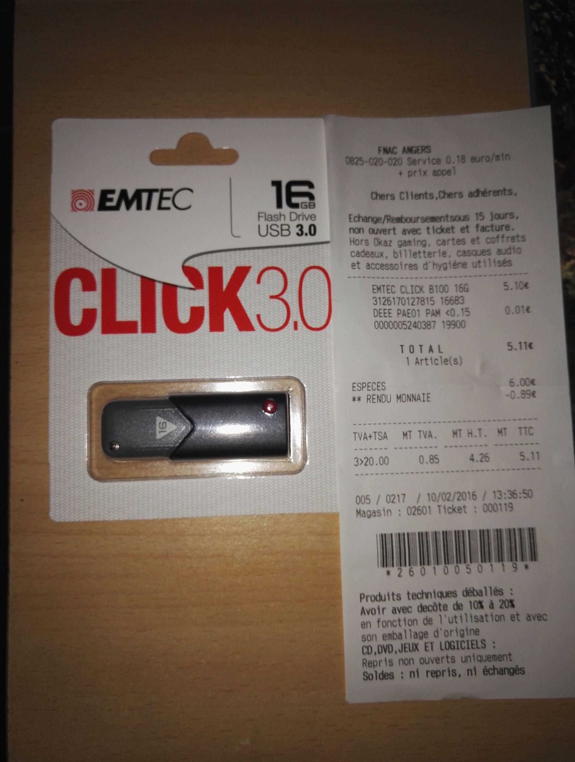 Clé USB Emtec 16 Go - USB 3.0
