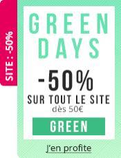 50% de réduction sur tout le site à partir de 50€ d'achat