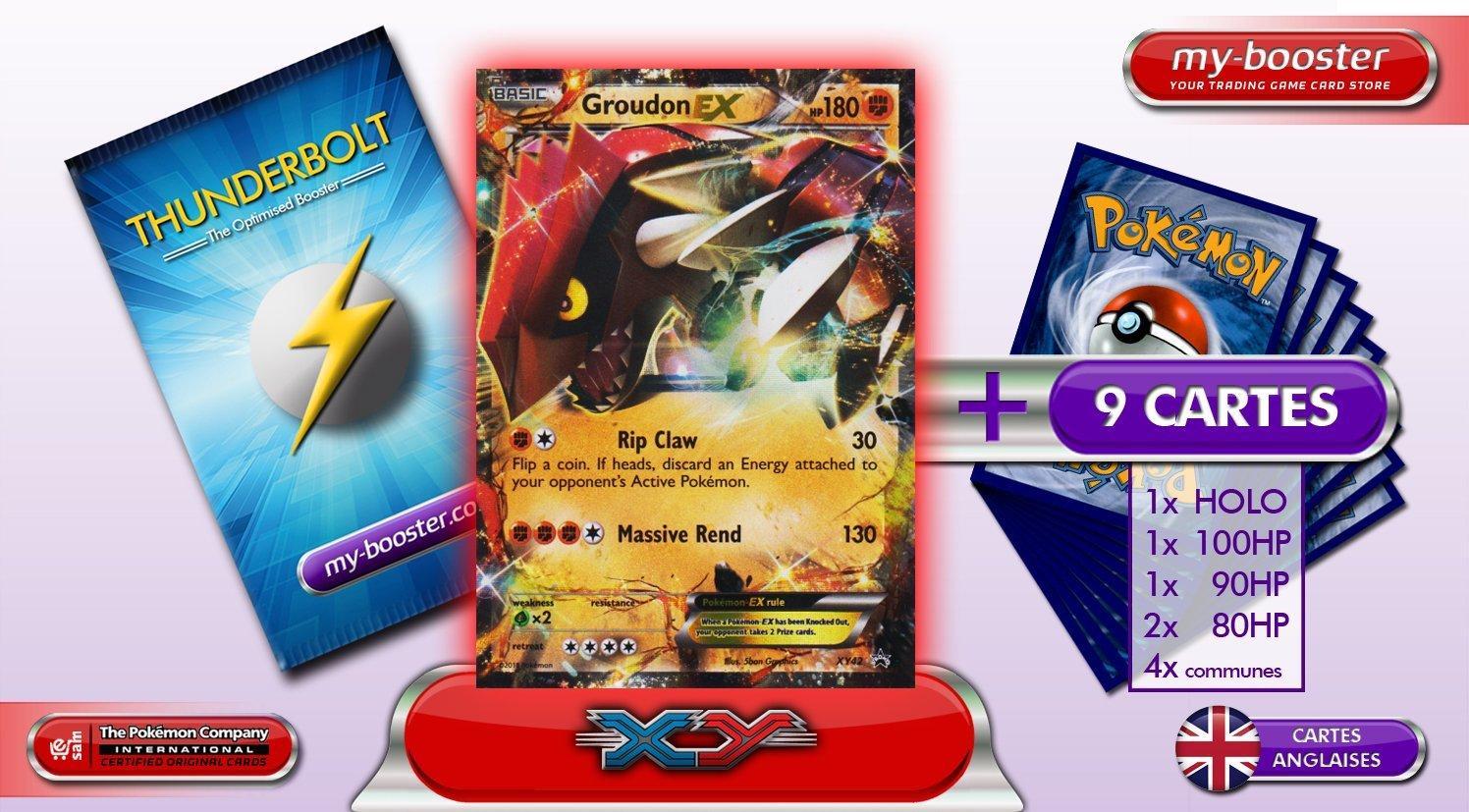 Booster optimisé Pokemon Groudon EX XY42 (Cartes en anglais)