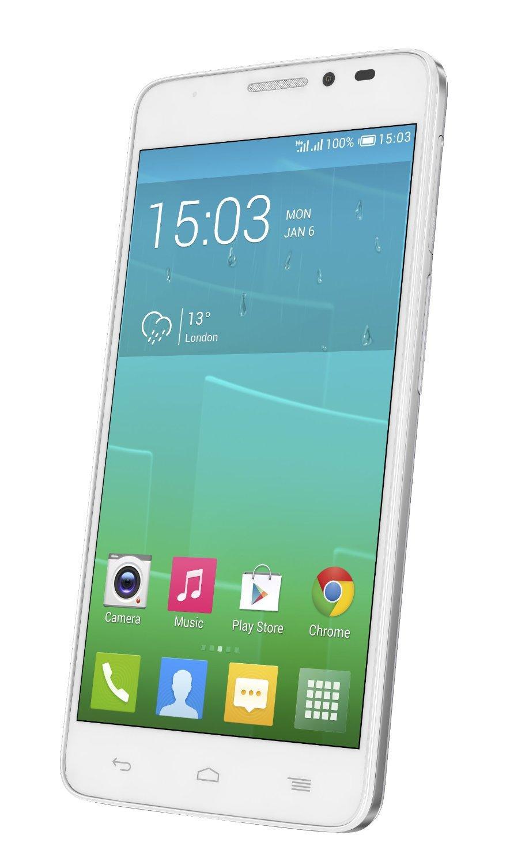 "Smartphone 5"" Alcatel One Touch Idol X+ 6043D (Double SIM, Octa-Core, RAM 2 Go, ROM 16 Go) - Blanc"