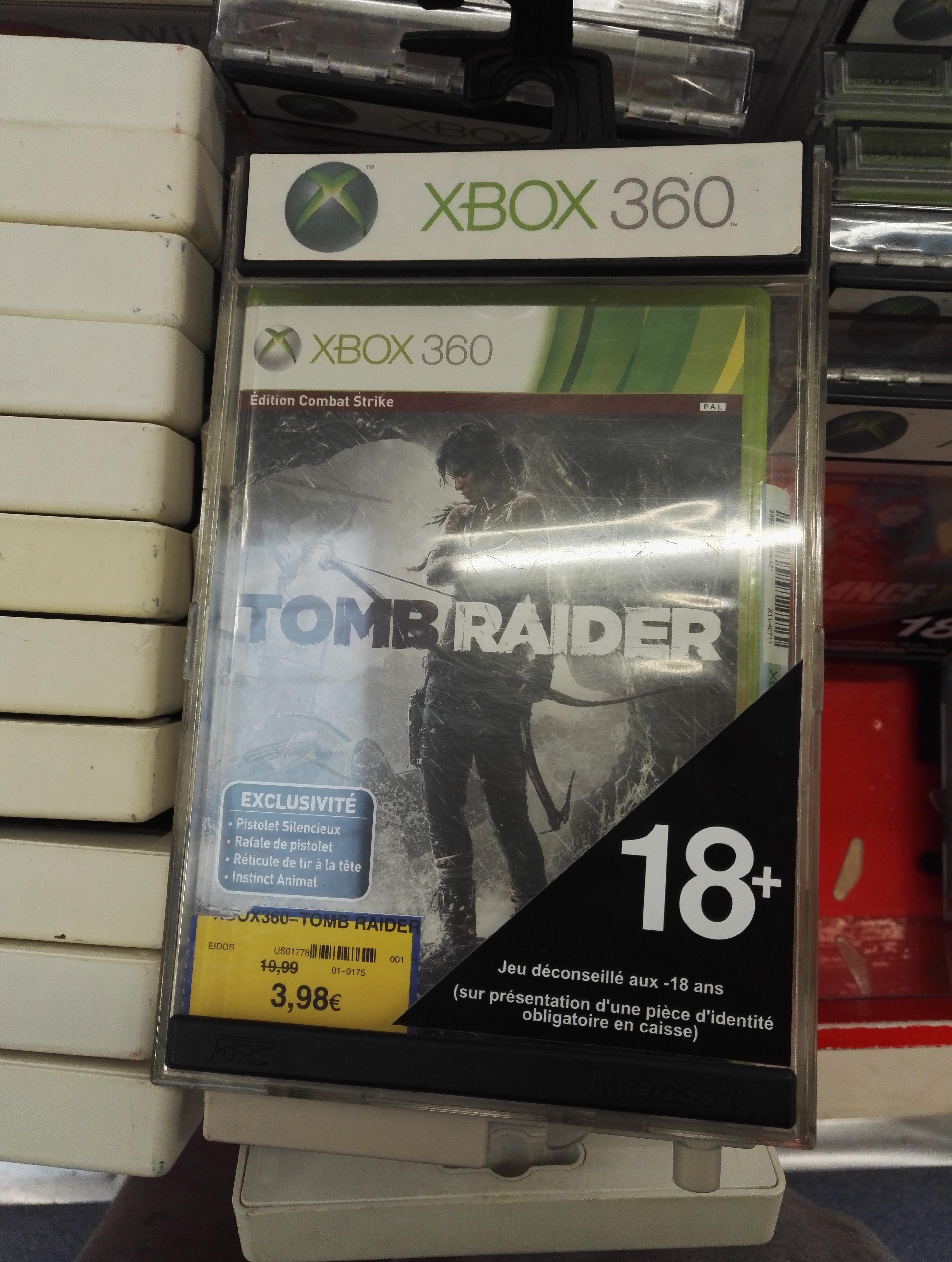 Sélection de Jeux Vidéos en promotions - Ex : Tomb Raider Edition Combat Strike sur Xbox 360