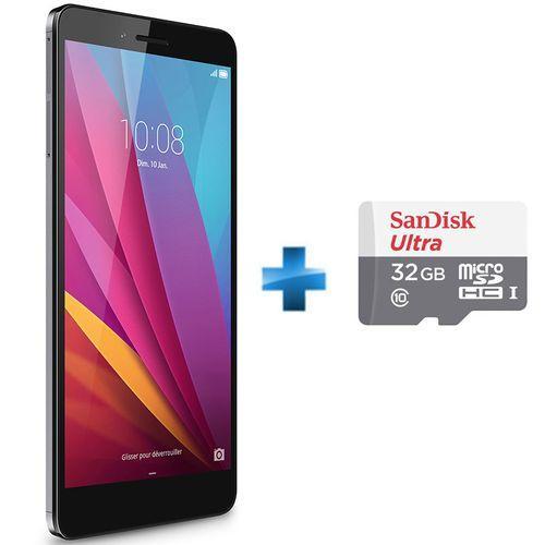 "Smartphone 5.5"" Honor 5X - Full HD, Qualcomm Snapdragon 616 Octo-Core 1.5 GHz, ROM 16 Go, RAM 2 Go + Carte microSDHC Sandisk Ultra (ODR de 30€)"