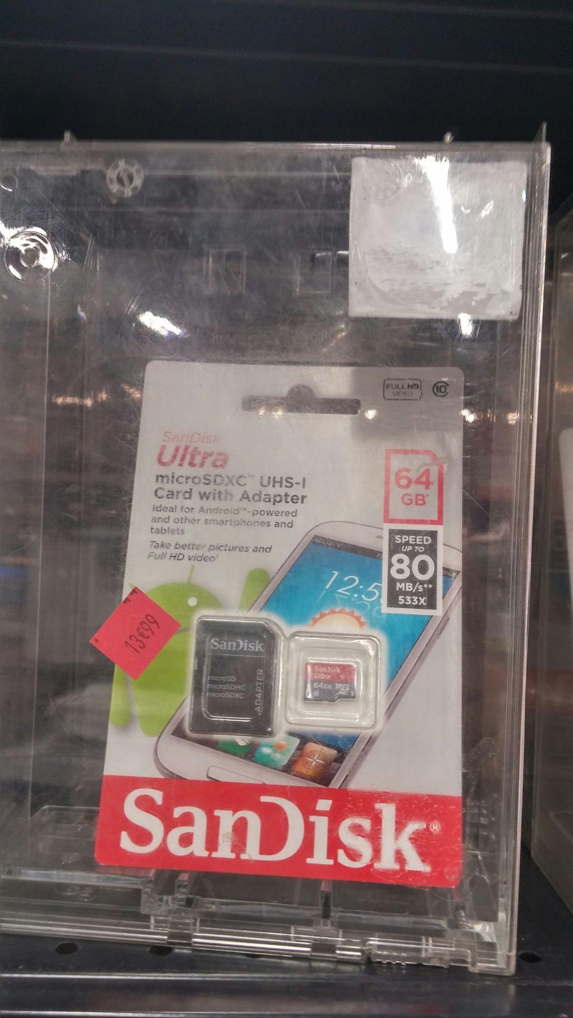 Carte Micro SDXC    SanDisk Ultra  64 Go