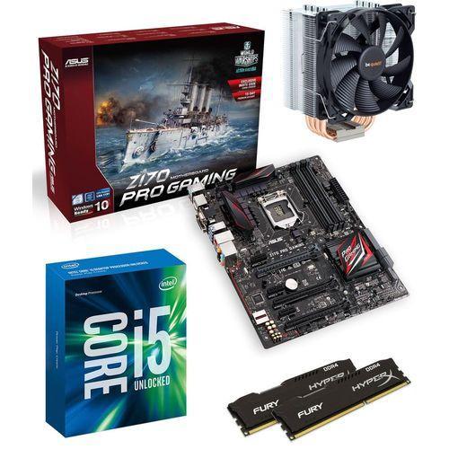 Kit évolution comprenant : Processeur i5-6600k + Carte mère Asus Z170 Pro + Ventirad Pure Rock + Kit mémoire 2x4 Go Hyper X Kingston