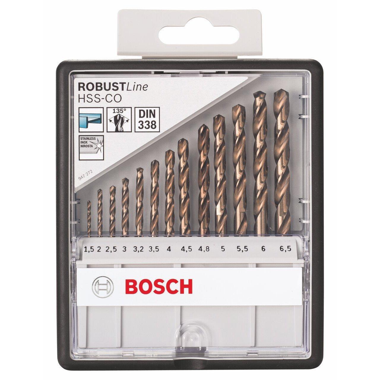 Coffret de 13 forets à métaux HSS-Co Bosch Robust Line DIN338