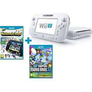 Console Nintendo Wii U Basic Pack Blanc + 2 Jeux : Nintendoland & Super Mario Bros U