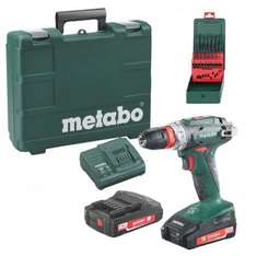 visseuse perceuse Metabo Sans fil 18V 48Nm (2 x 2.0Ah) + forets