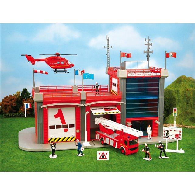 Caserne de pompiers électronique 803004 - Rouge