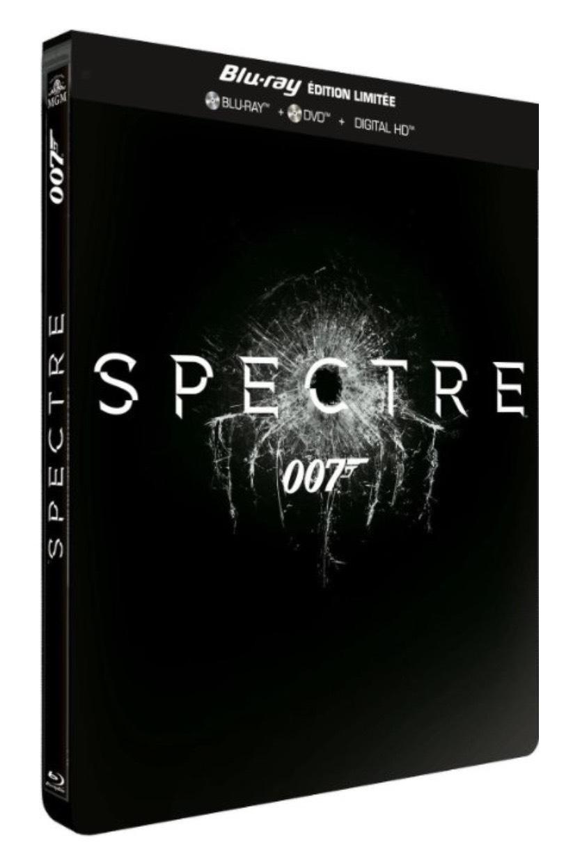 [Adhérents] Blu-ray : Spectre Édition limitée Steelbook + 5€ crédités sur la carte