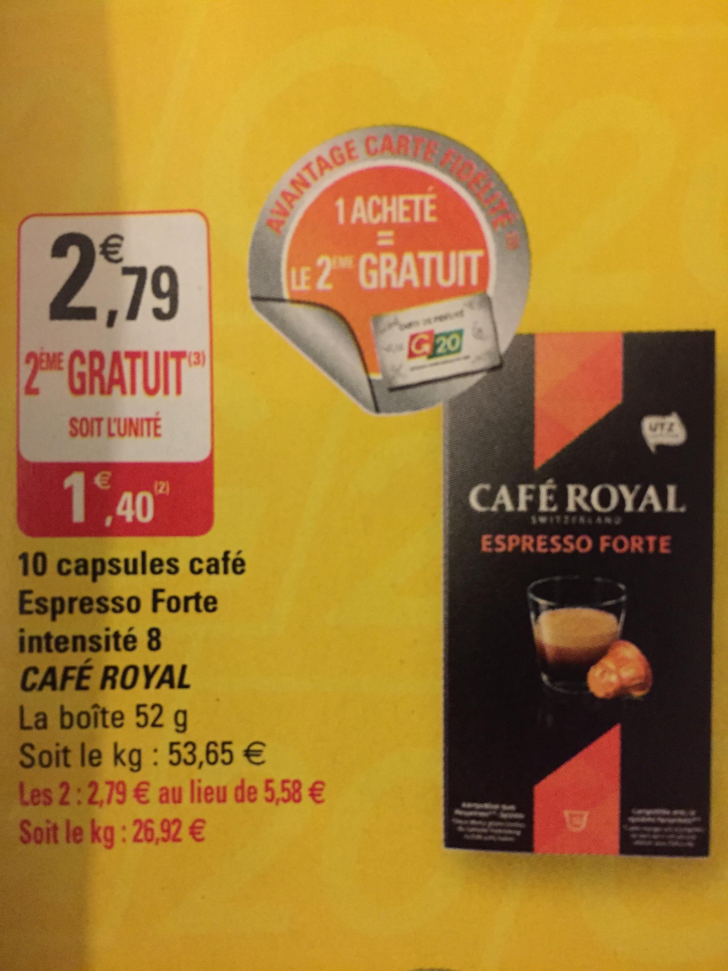 4 Boîtes de Capsules Espresso Café Royal gratuites (50% de remise immédiate + 50% remboursés via Shopmium)