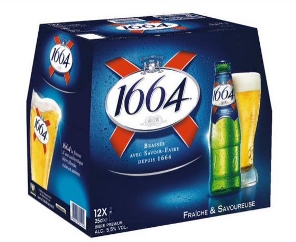 3 packs de Bières 1664 - 12 x 25cl (via BDR)