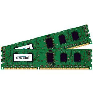 2 barrettes de RAM Crucial (8 Go x 2) 16 Go, 240-pin DIMM, DDR3 PC3-10600