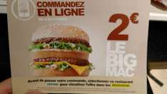 Big Mac via commande Internet sur le site ou l'application mobile