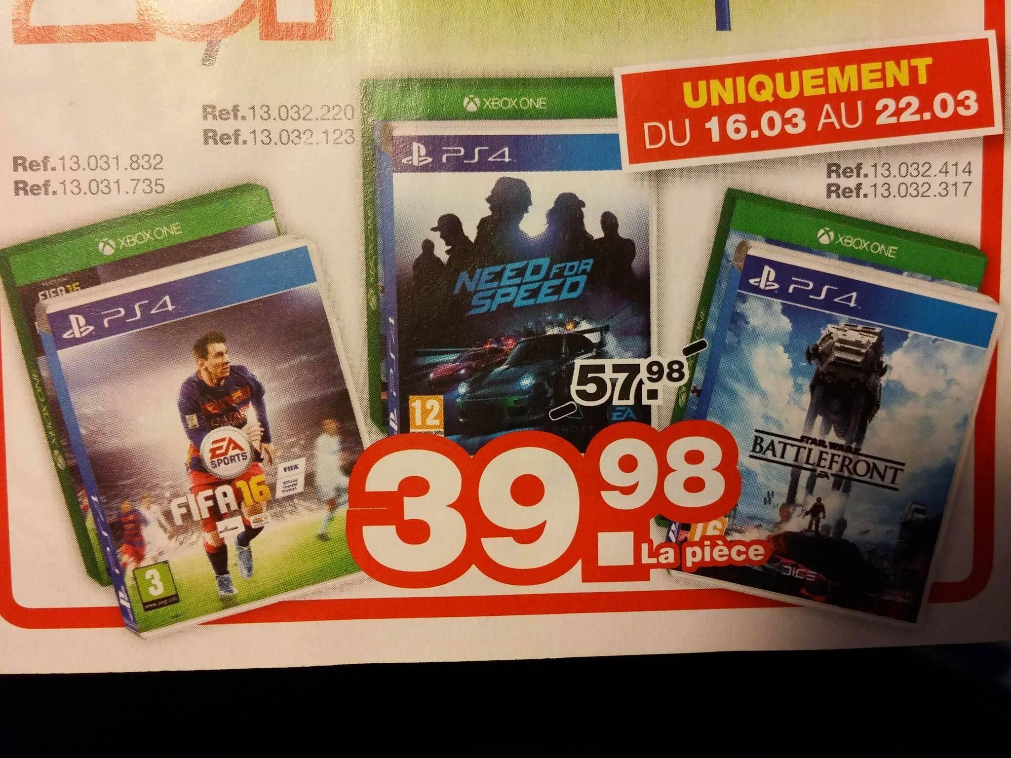 Sélection de jeux PS4 et Xbox One en promotion - Ex : Fifa 16