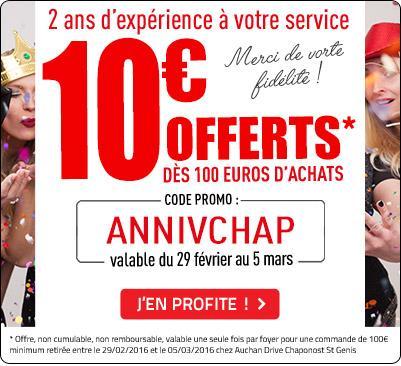 10€ de réduction dès 100€ d'achat