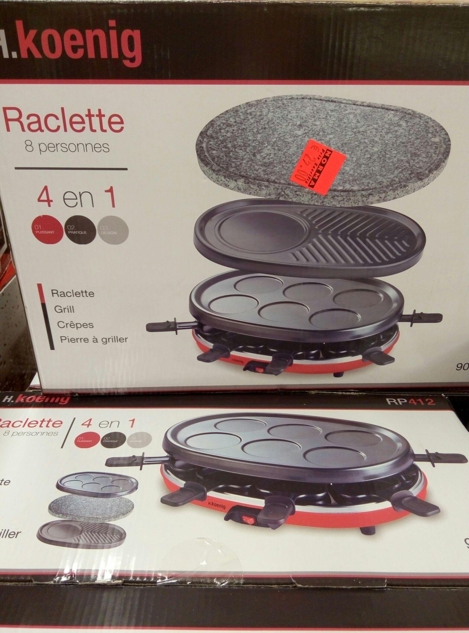 Appareil à raclette H.Koening - 8 personnes