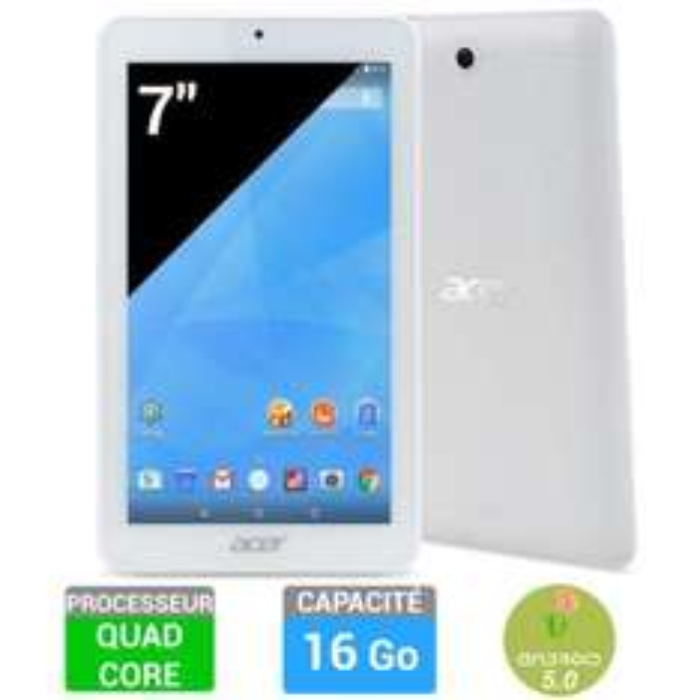 "Tablette 7"" Acer iconia One 7 B1-770 Blanc - 16 Go (ODR de 30€)"