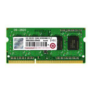 Transcend JM1066KSN-2G Mémoire PC JM DDR3 2 Go 1066 MHz SO-DIMM CL7