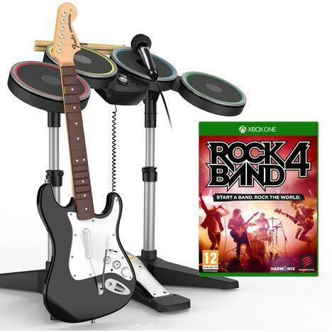 Rock Band 4 Xbox One ou PS4 - Bundle jeu + Guitare + Batterie + Micro