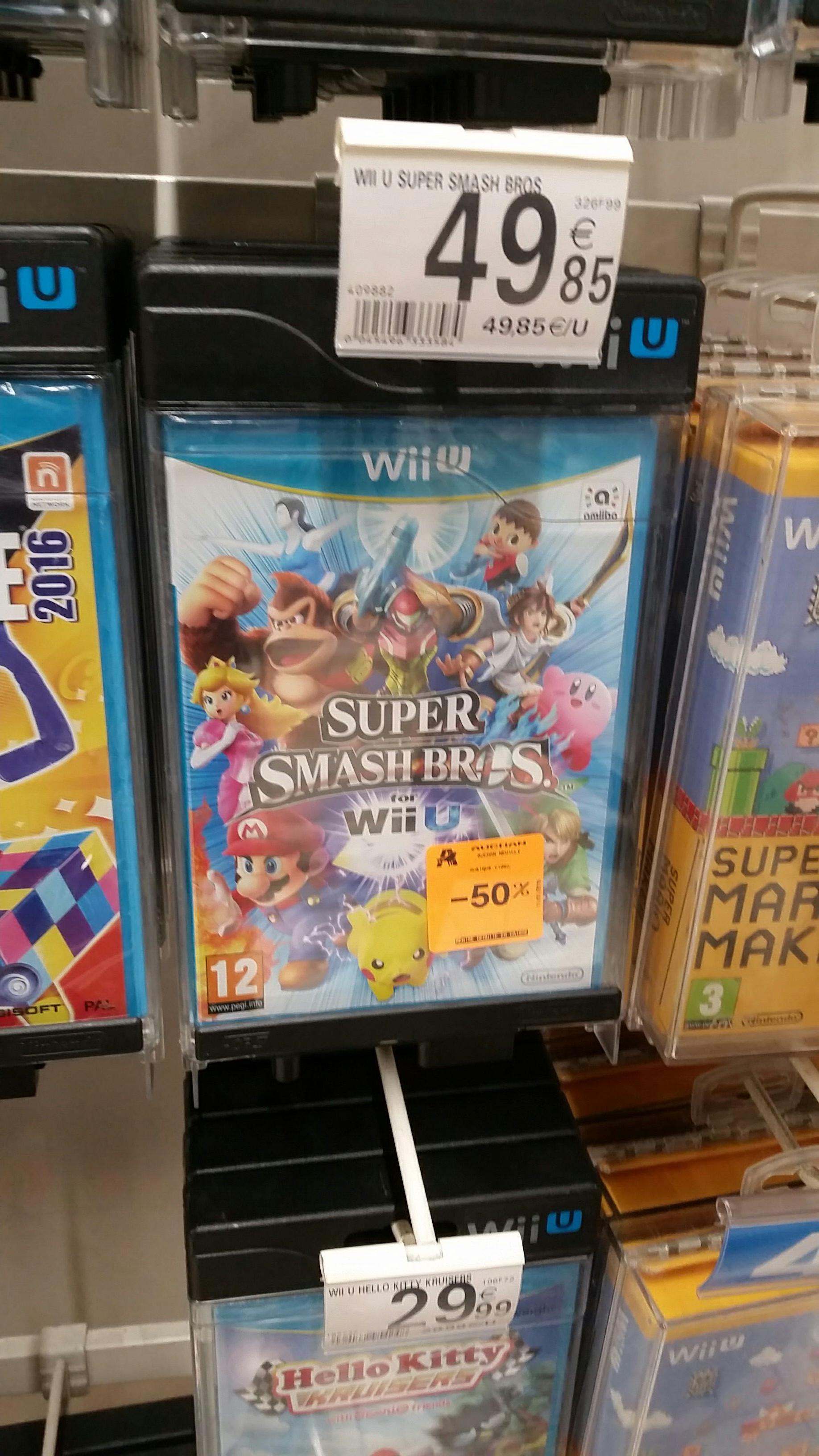 Sélection de jeux vidéo en promotion - Ex : Jeu Super smash bros Wii U