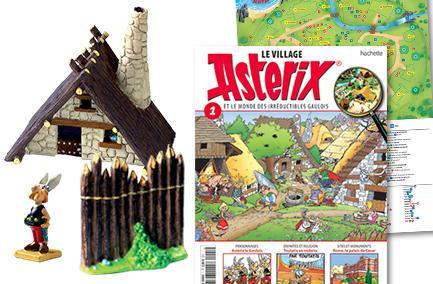 Village Asterix: 1er numéro contenant 1 Figurine Astérix avec sa Maison + 1 Palissade + 1 Fascicule