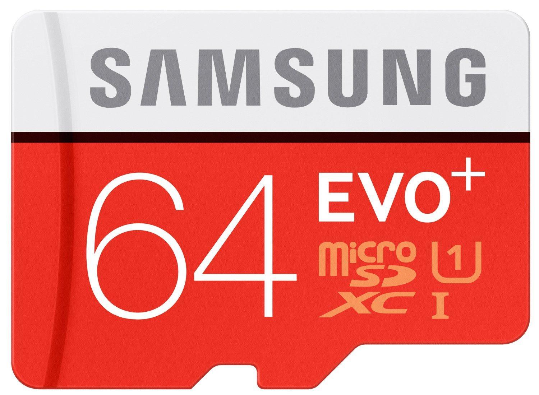 Carte MicroSDXC Samsung Evo+ 64 Go - Classe 10, UHS-1 avec adaptateur